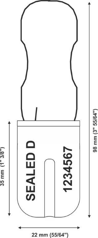 padlock Security seal Padlock type 180-1 mm