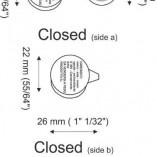 roundcrimp – Aluminium security seals for cured meat – 22×47 mm