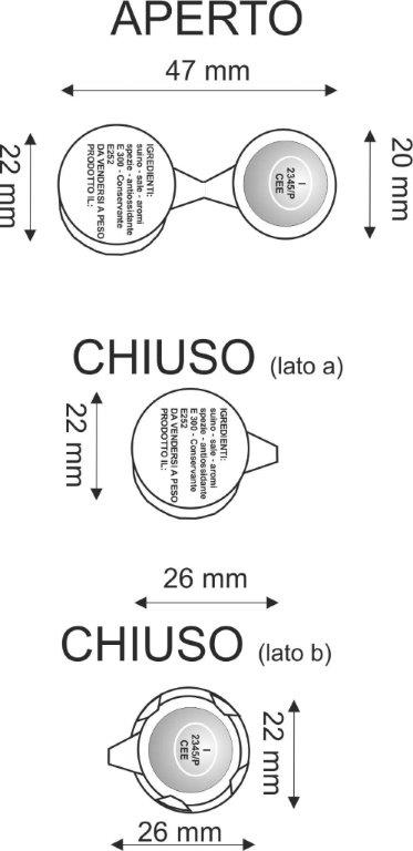 roundcrimp - Aluminium security seals for cured meat.