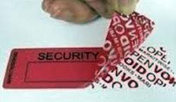Etichetta di sicurezza void standard