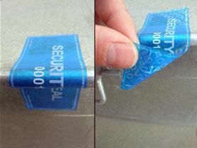 Etichette di sicurezza senza residuo standard