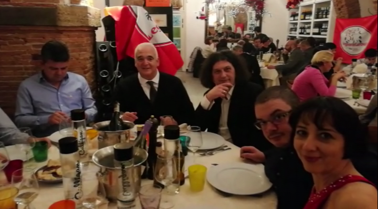 """Great Christmas dinner on Friday 15 December at the """"Le Volte"""" restaurant in Livorno"""