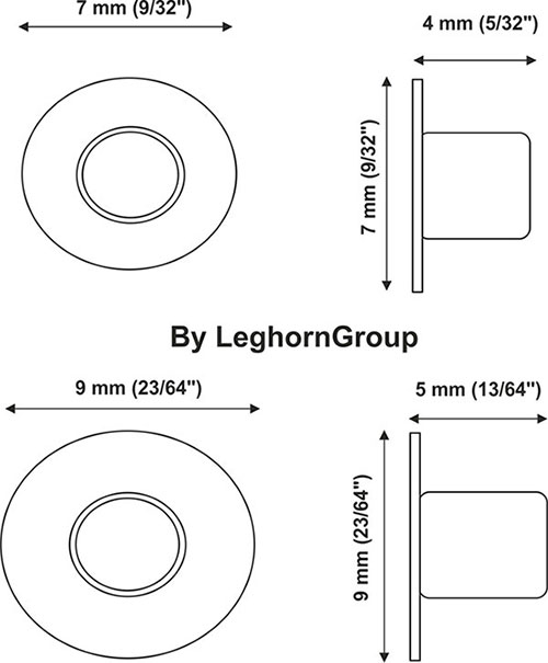 aluminium eyelet seals technical drawing