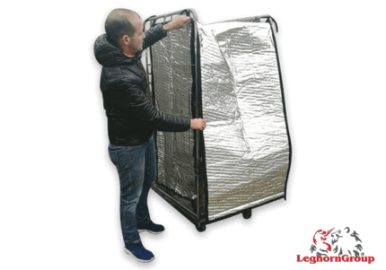 aluminum insulation cover for roll container