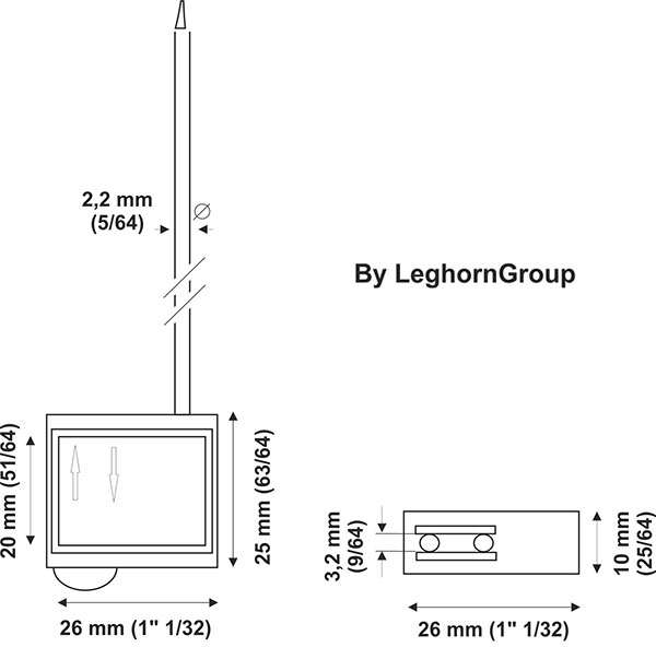 cable seal plastic head technical drawing