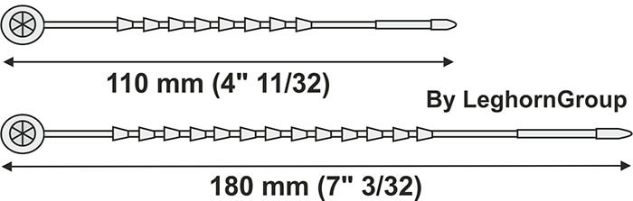 cable tie arachne seal technical drawing
