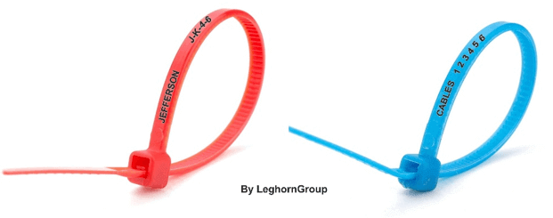 cable ties colored standards polyamide pa 6.6 numbered