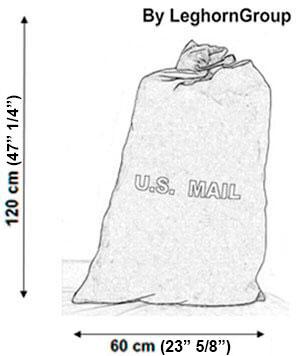 canvas postal sack matera technical drawing
