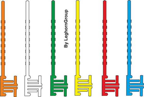 chiusura sigilli di sicurezza in plastica postal block colori