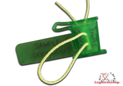 completely transparent plastic security seal anchorflag