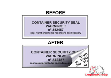 container void label seal