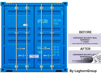 container void labels seal examples of use