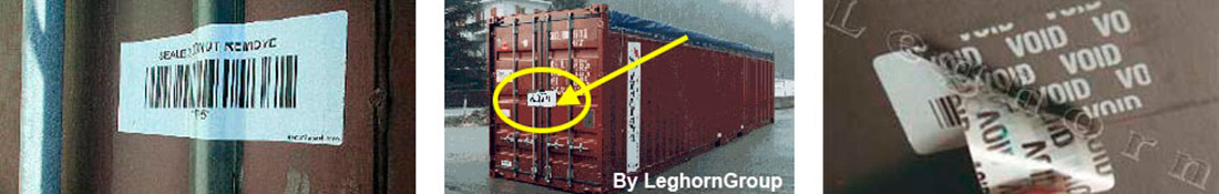 container void labels seal