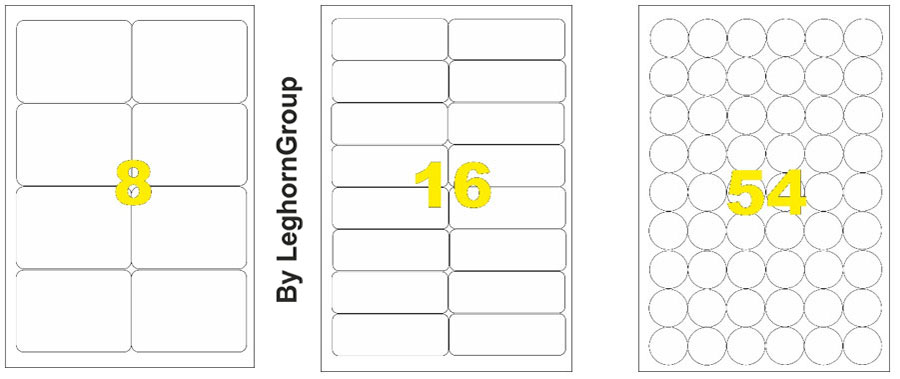 customized adhesive labels and bar code sheets