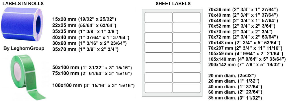 customized adhesive labels and bar code standard sizes