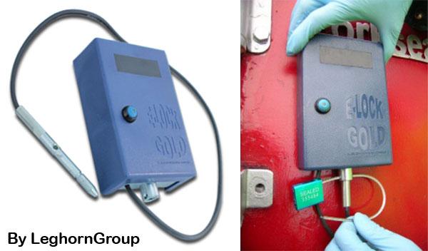 electronic reusable security seal e-lock gold