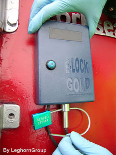 electronic seal containers e-lock gold examples of use