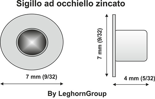 eyelet seals envelopes packaging technical drawing