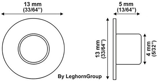eyelet seals for tagging food system technical drawing