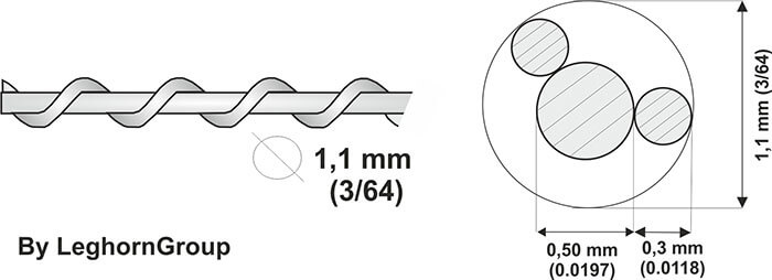 galvanized steel sealing wire technical drawing
