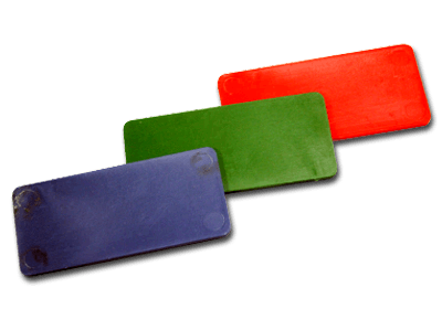 RECTANGULAR PLASTIC TOKEN COIN