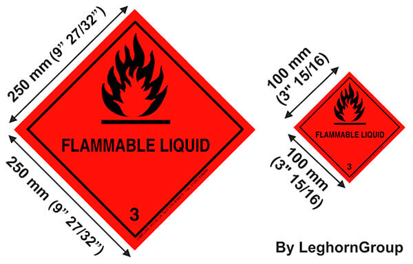 hazard imo labels technical drawing