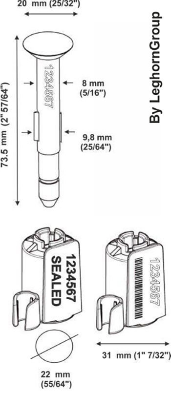 high security bolt seal neptuneseal technical drawing