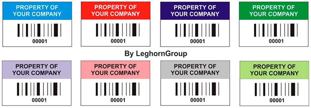 identification labels asset label colours customizations