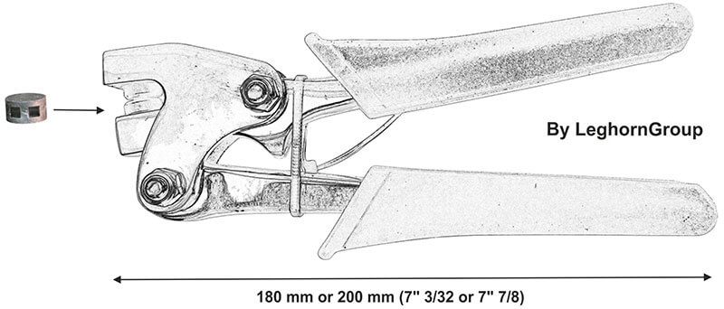 lead seal pliers press technical drawing