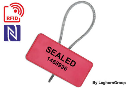 metal cable security seal with rfid roll-container