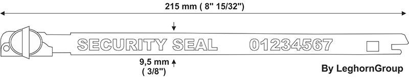 metal strap seal balloonseal technical drawing