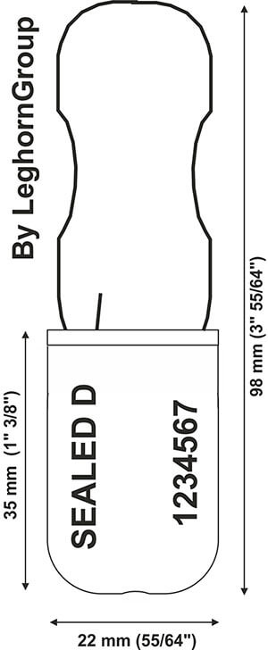 padlock style seal padlockseal 180-1 technical drawing