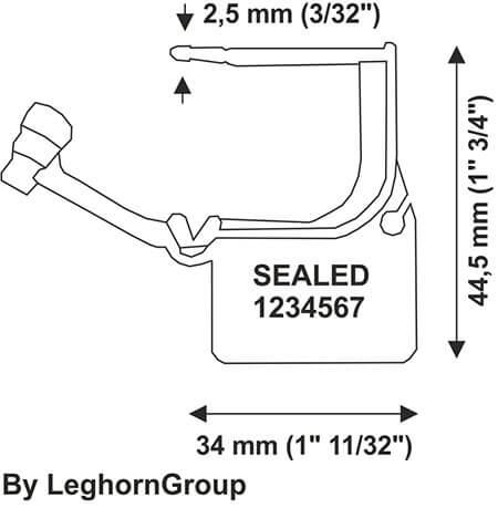 plastic padlock security calaide seal technical drawing