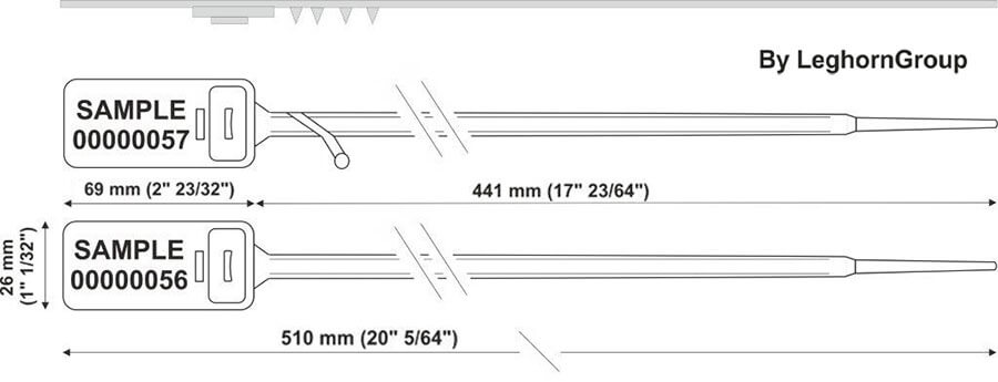 plastic seal hectorseal lt 7.5×510 mm technical drawing