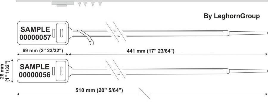plastic seal hectorseal lt 7.5×510 mm technical drawing