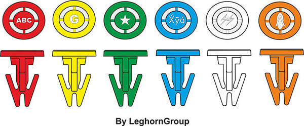 plastic seals toteboxseal 17x14mm colours customizations