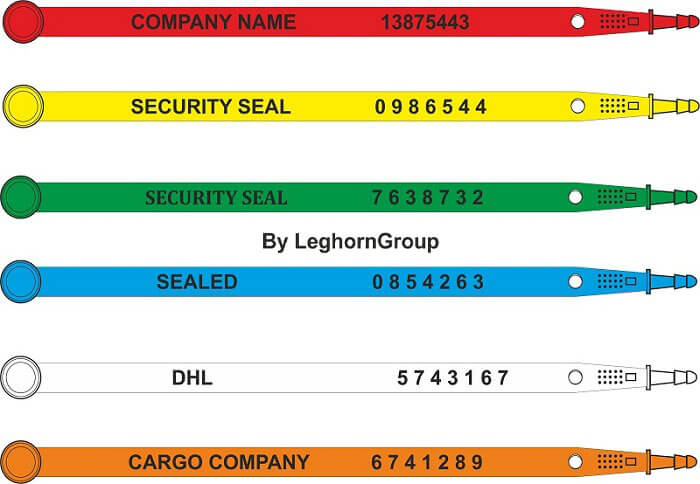 plastic security seal carseal colours customizations