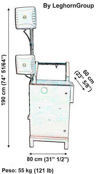 reader seal rfid trolley technical drawing
