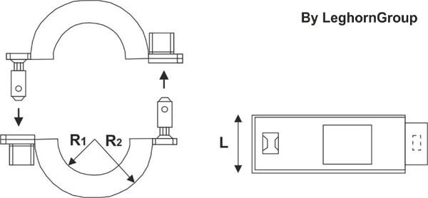 rfid seal connection lock technical drawing