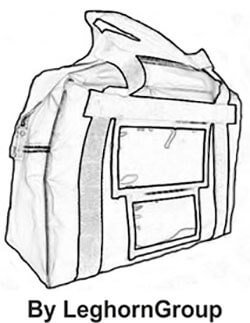 security bag london technical drawing