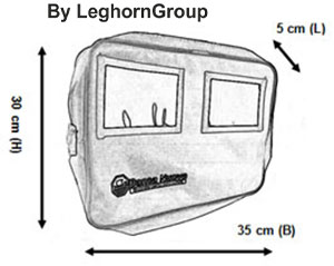 security deposit bag oslo technical drawing