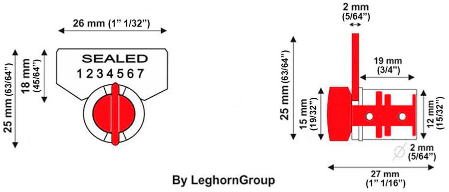 security meter seal twist seal technical drawing