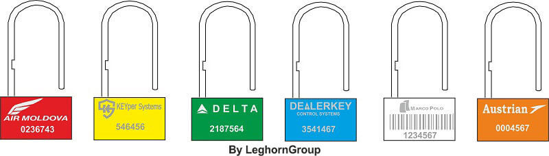 security seal padlockseal 160-4 colours customizations