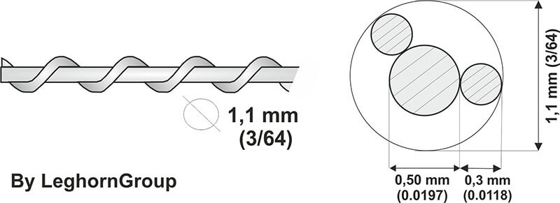 stainless steel sealing wire technical drawing