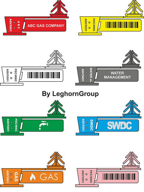 transparent plastic seal anchorflag colors customizations