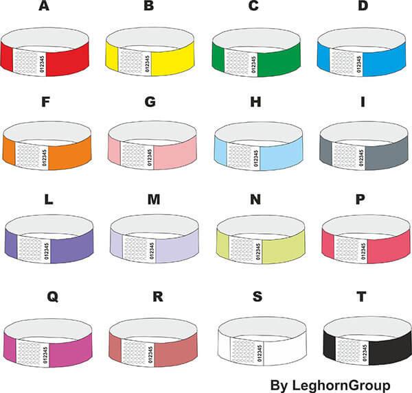tyvek wristbands colours customizations