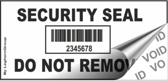 void barcode security labels