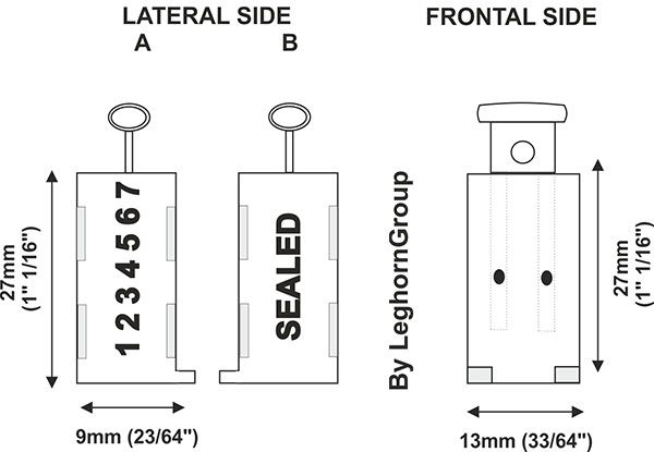 wire security seals triton technical drawing