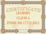 certificate clause 6 ISO 17712