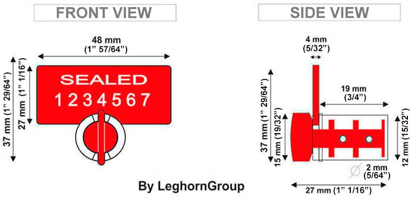 rfid meter seal twist seal technical drawing